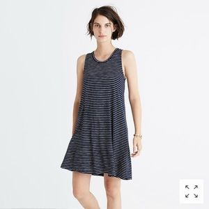 Madewell Hosta Stripe Highpoint Tank Dress
